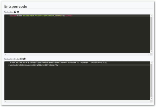 Borlabs Script Blocker Entsperr Codes