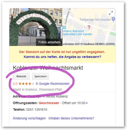 Google Bewertungen Mybusiness