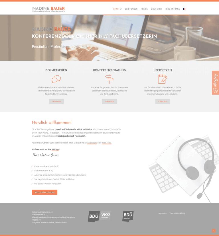 Webdesign Koblenz Nadine Bauer Dolmetscherin