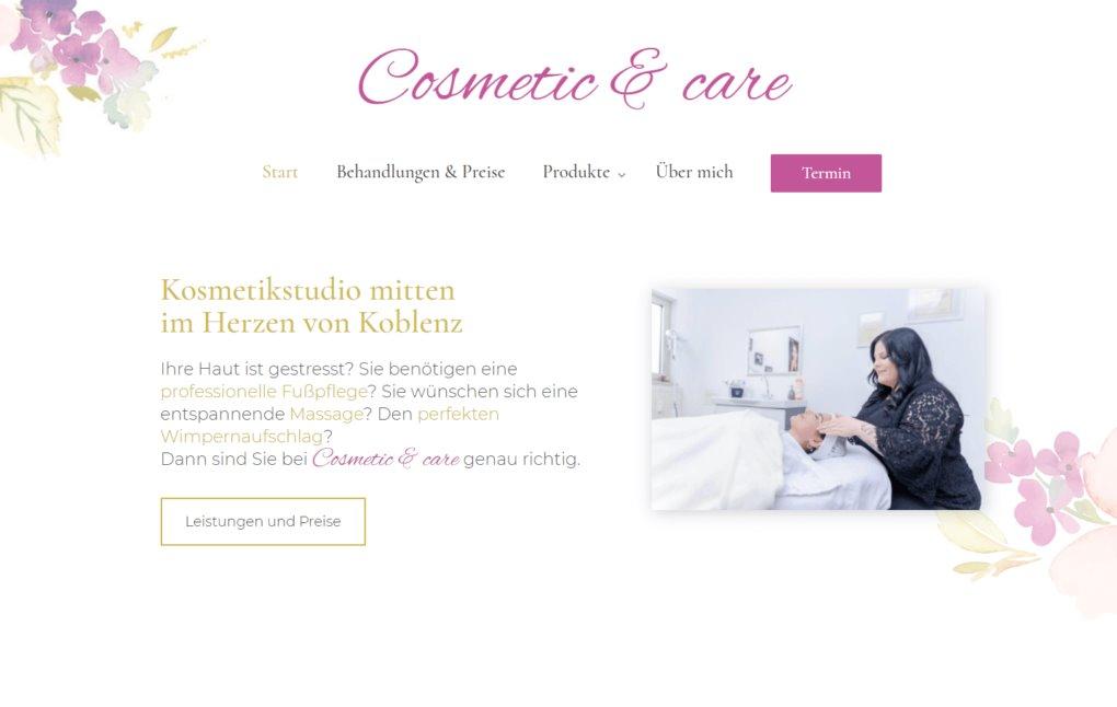 Webdesign Kosmetikstudio Koblenz