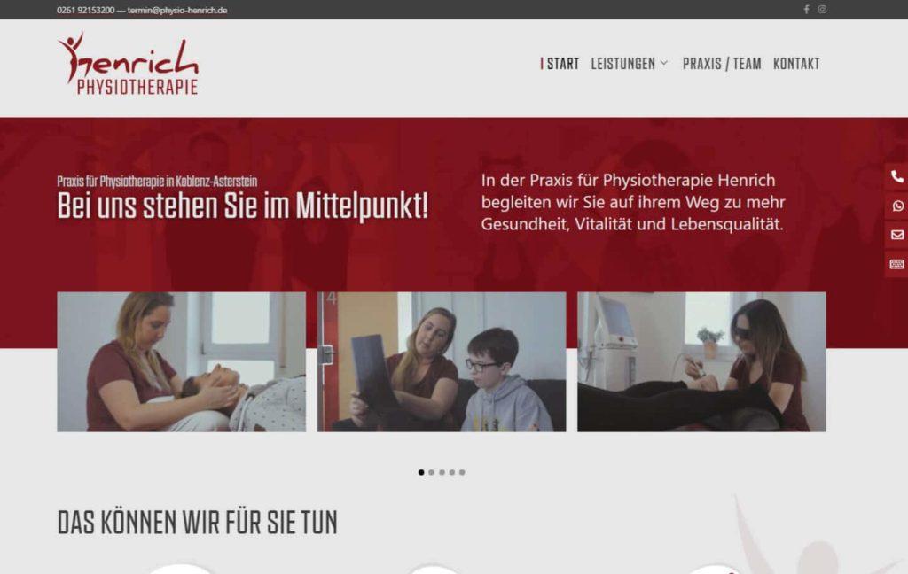 WordPress Webdesign Physiotherapie Praxis Koblenz
