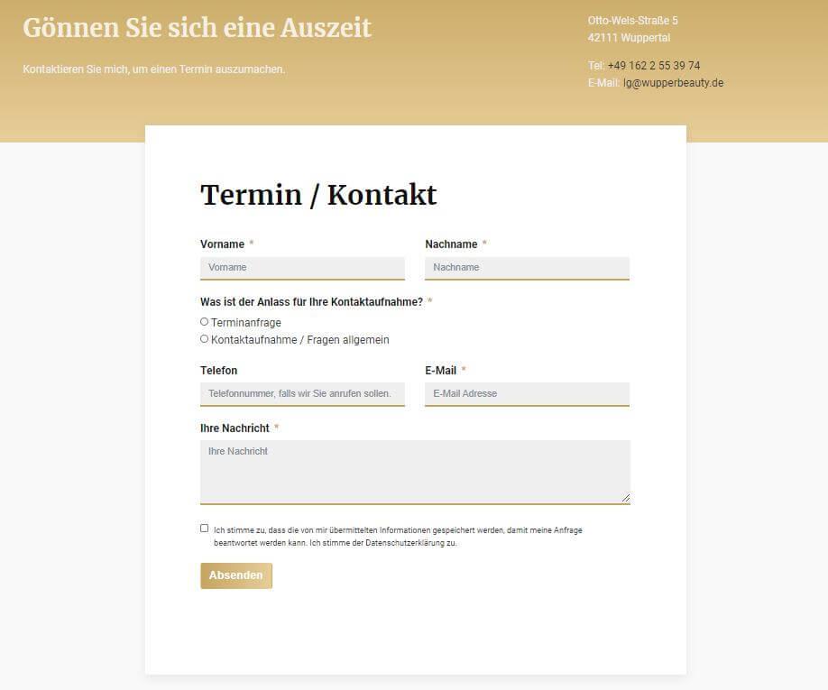webdesign referenz kontaktformular