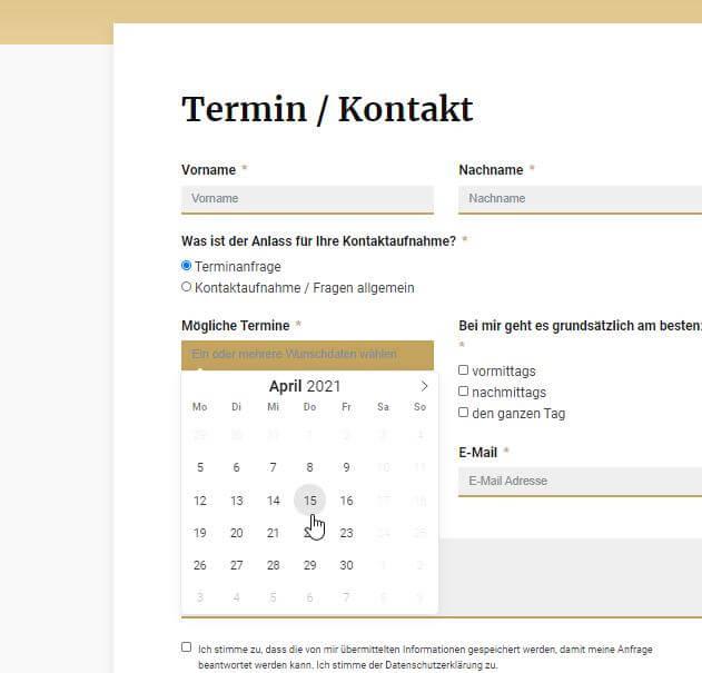 webdesign referenz terminanfrage