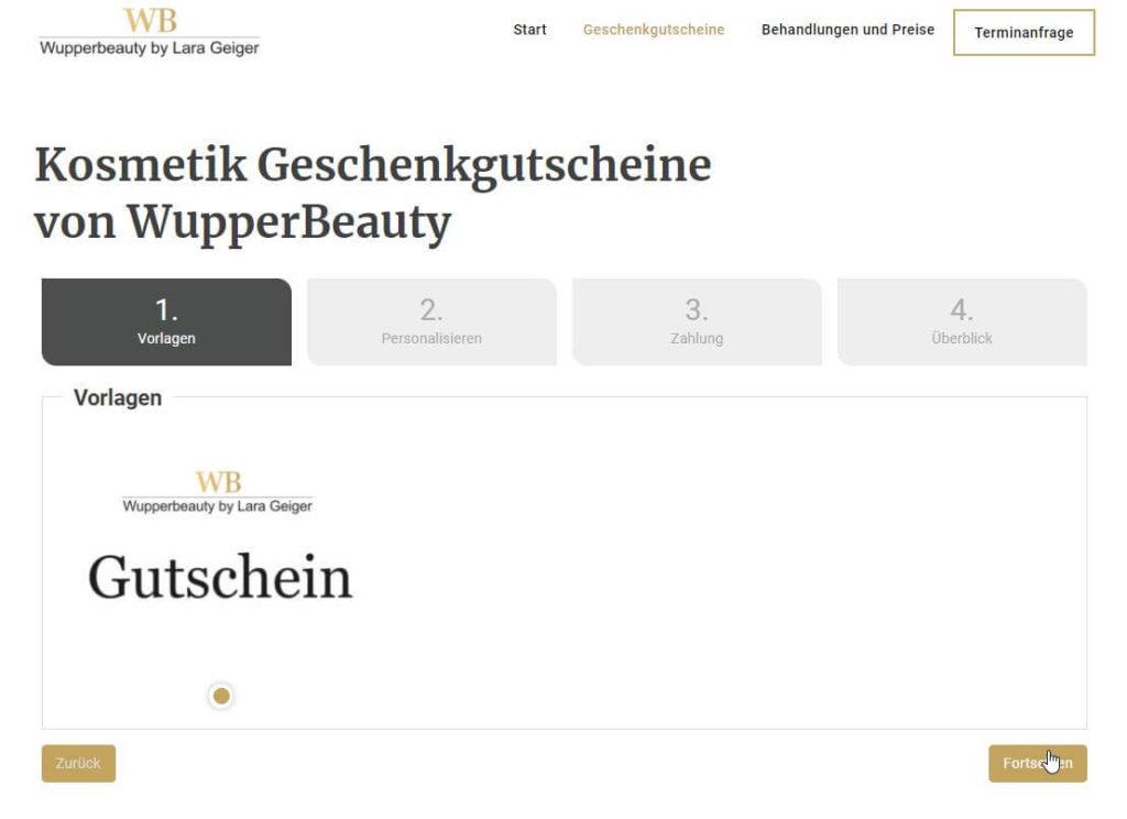 webdesign referenz wupperbeauty gutscheinverkauf