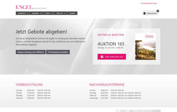 webdesign koblenz referenz auktionshaus engel