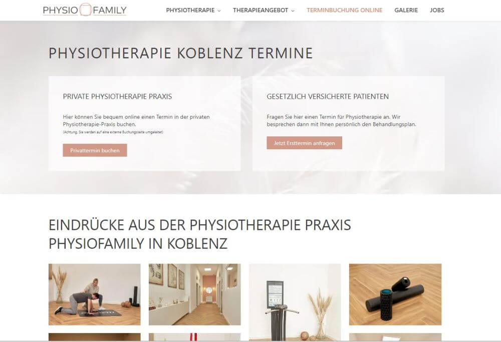 webdesign physiotherapie koblenz